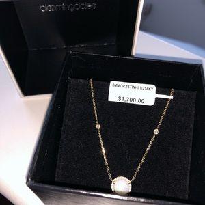 Bloomingdale's Jewelry - 14K Gold Opal Diamond Necklace